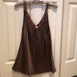Express Pleated Cami with Beading